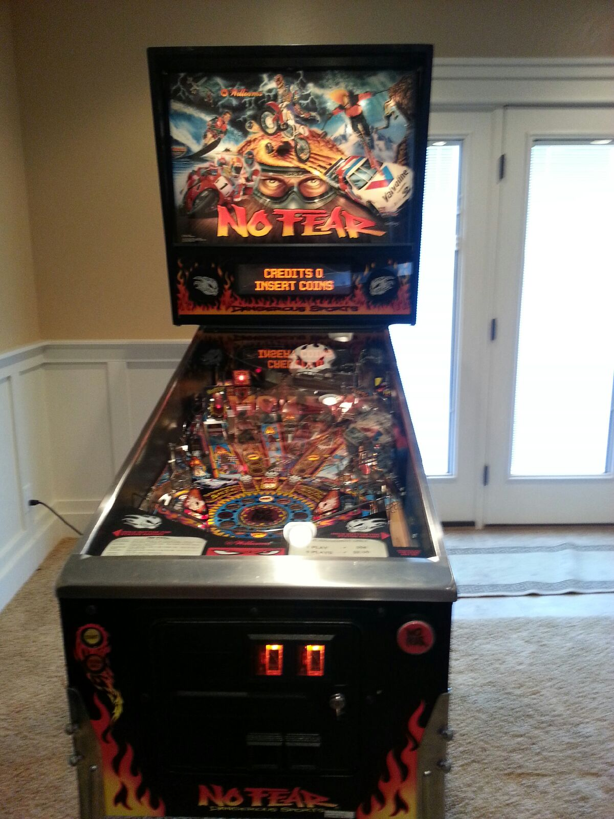 No Fear Pinball machine submitted to WeBuyPinball.com for sale.
