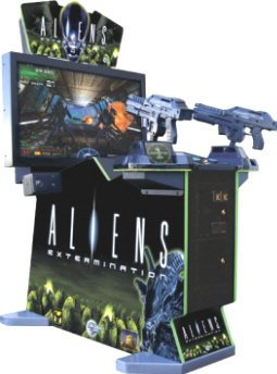 Modern video arcade game. Aliens Extermination.