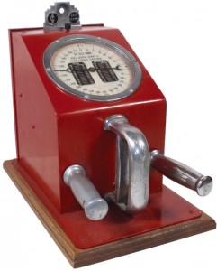 Coin-operated strength tester  by Gottlieb.