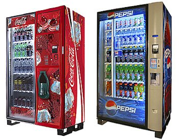 Coke and Pepsi vending machines wanted.
