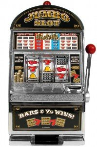 Jumbo slot machine, also known as, one arm bandit