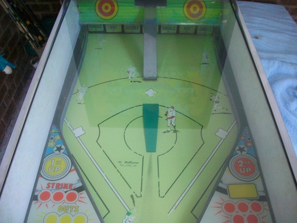 Line Drive pitch and bat playfield