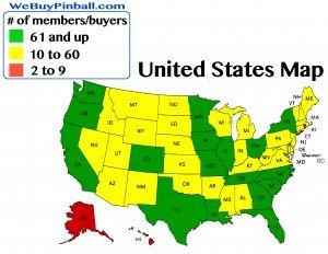Map of members