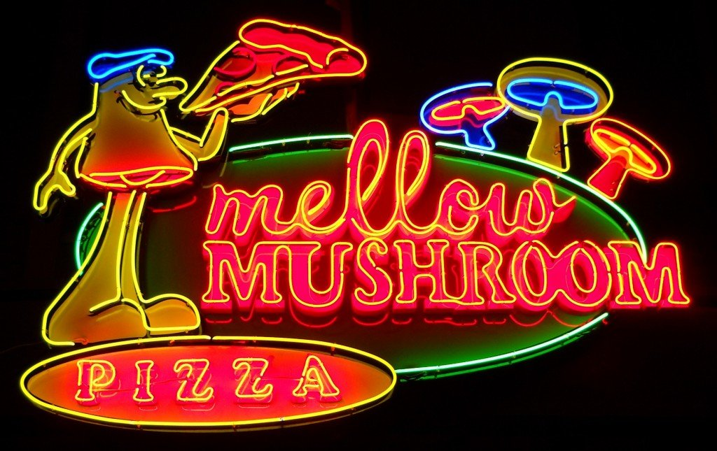 Mellow Mushroom Pizza Neon Sign