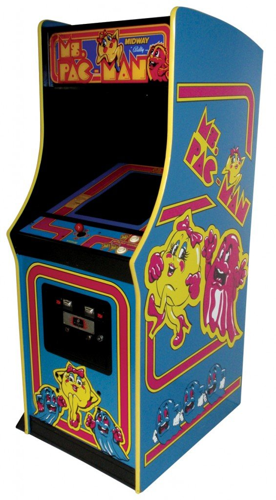 Ms. Pac-man video arcade game.