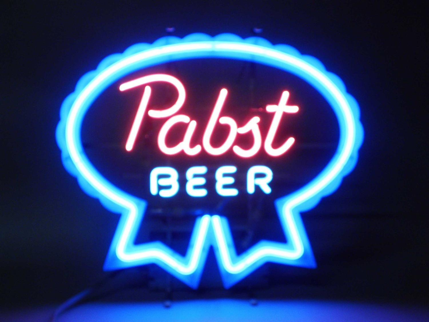 Sell your beer neon sign for the most cash at we buy pinball neon beer signs like this pabst beer aloadofball Gallery