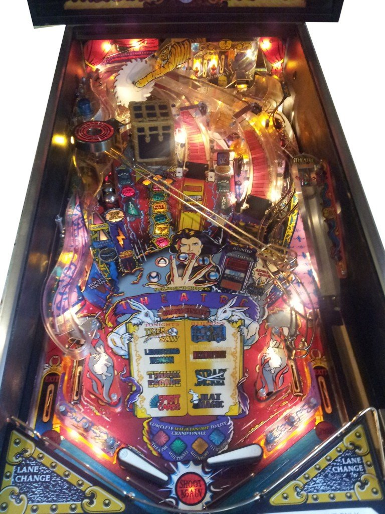 Theater Of Magic Pinball Machine (Playfield view).