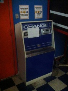 Going out of business sale of change machine