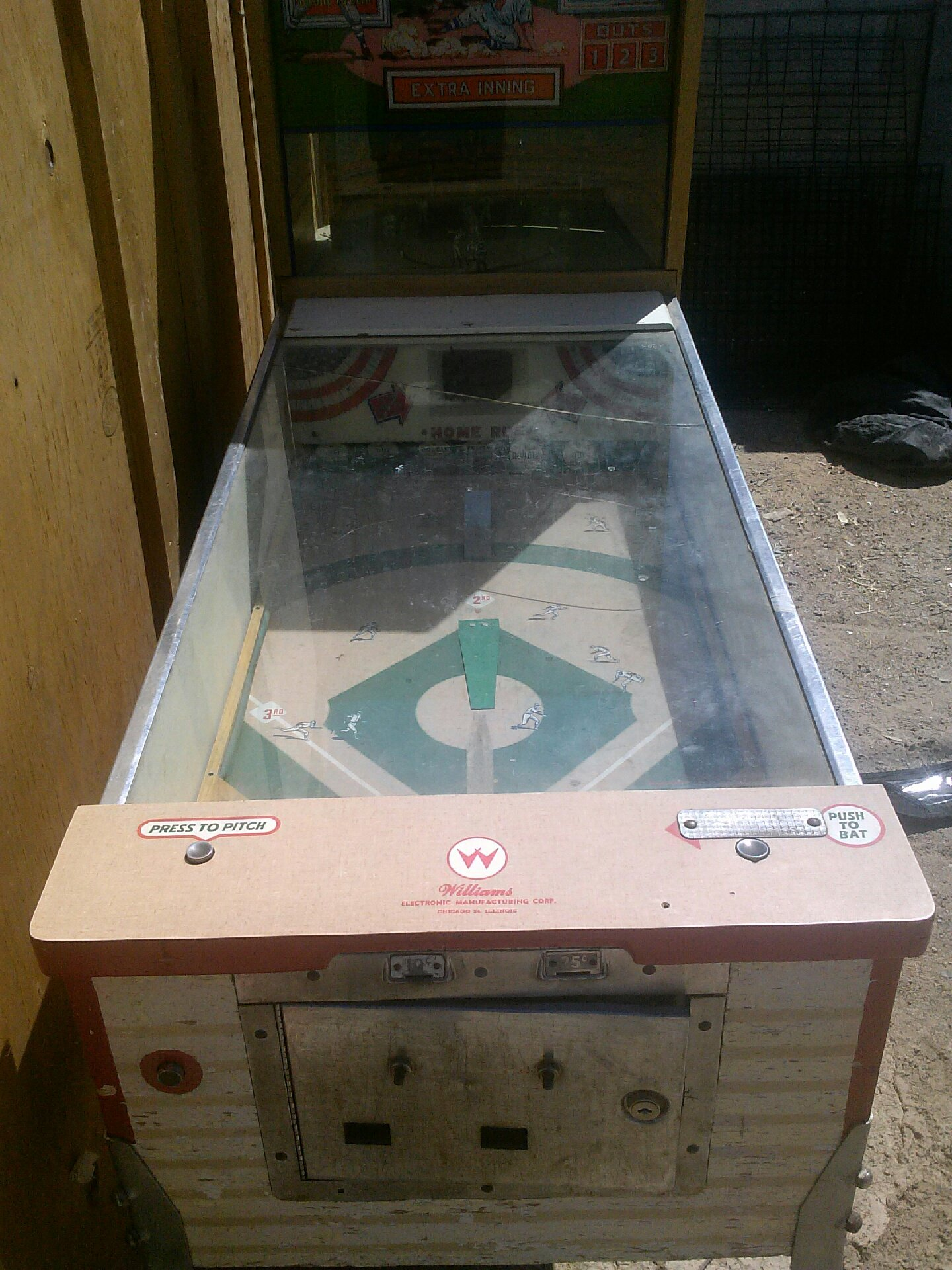 1963 Williams Major League Baseball Pitch and Bat for sale