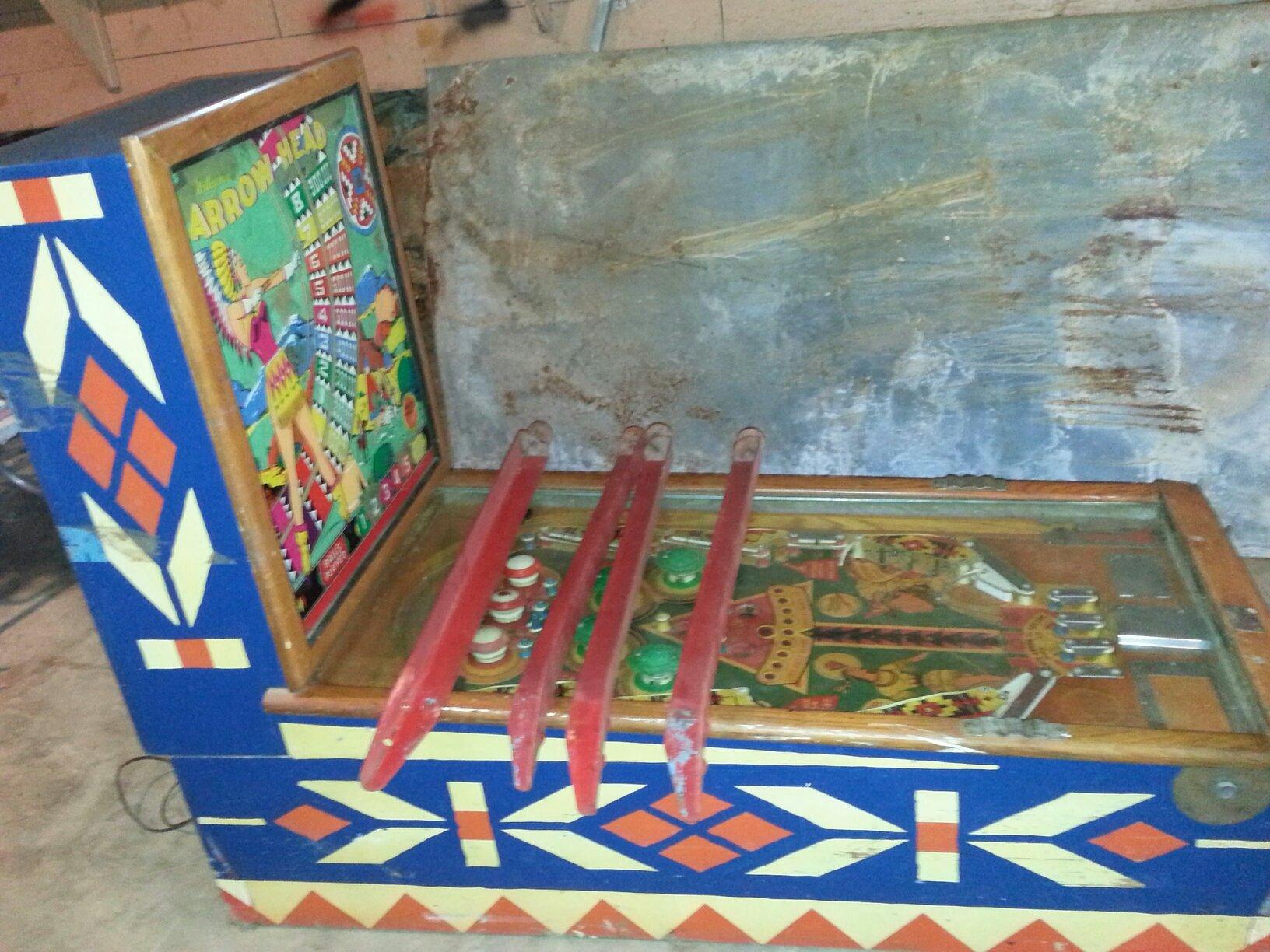 Arrow Head Woodrail Pinball Machine For Sale Kansas City