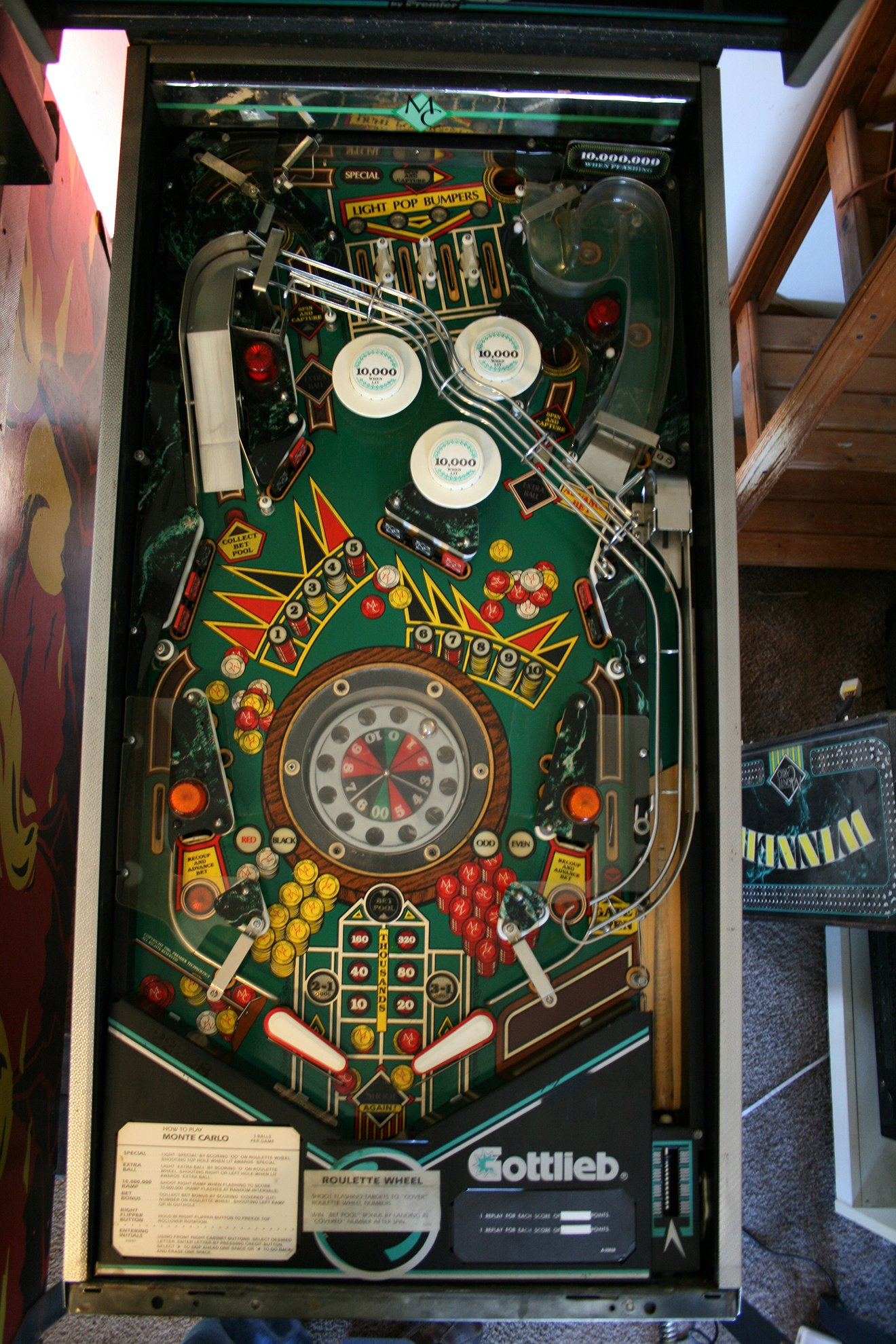 Gottlieb Monte Carlo Pinball Machine For Sale In Ainsworth