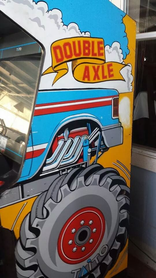 Double Axle video arcade game for sale in CA.Double Axle video arcade game for sale in CA.