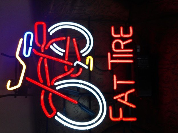 Fat Tire neon sign for sale.