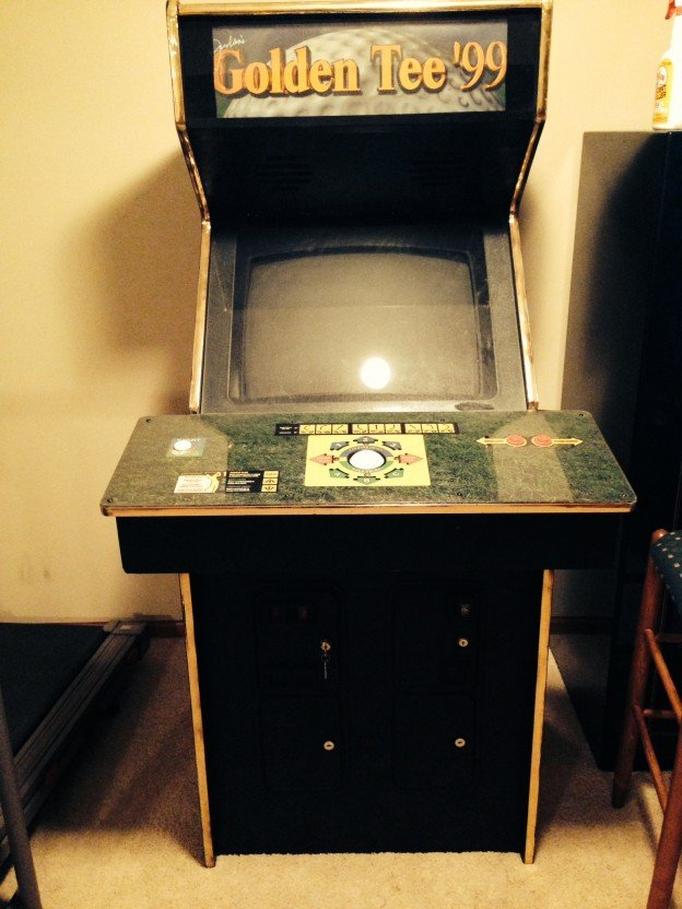 1999 Golden Tee video arcade game for sale.