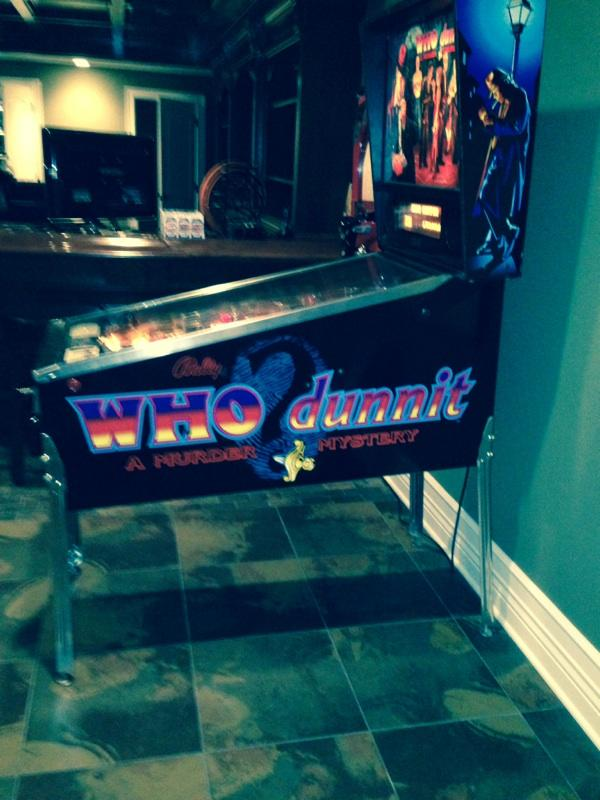 Right side of Who Done It pinball machine.