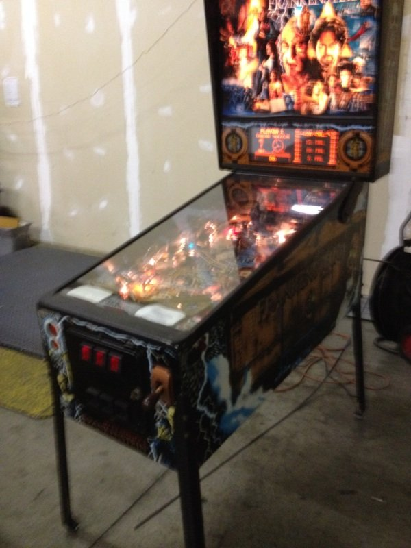 Right side of Mary Shelley's frankenstein pinball machine