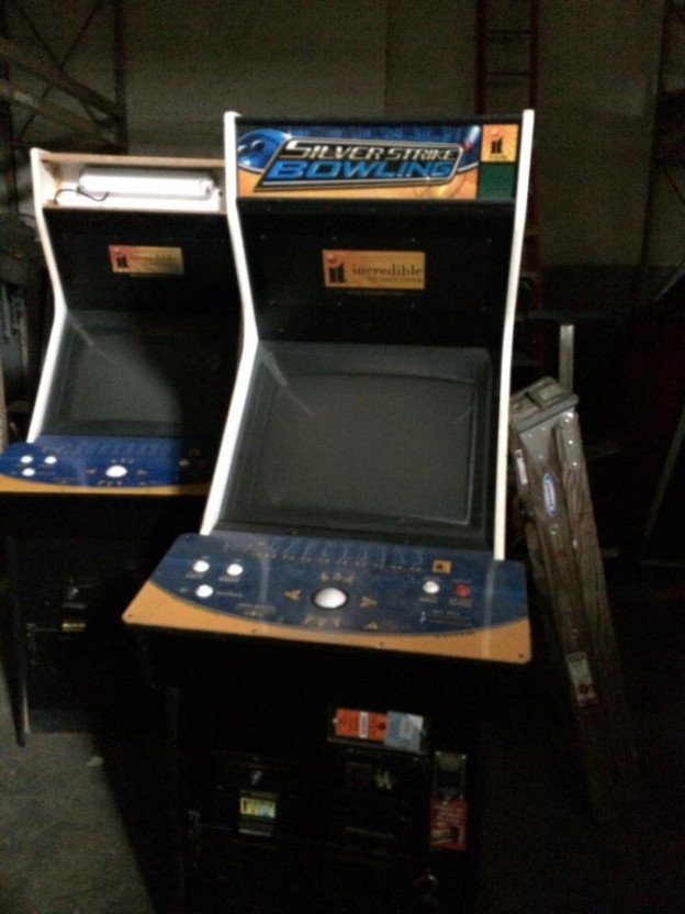 Silver Strike Bowling video arcade game for sale.