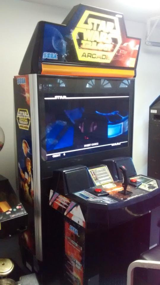 Star Wars Trilogy video arcade game for sale.