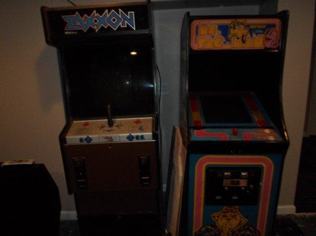 Zexxon & Ms. Pac-Man video arcade games.
