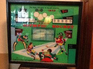 Olympic hockey pinball machine
