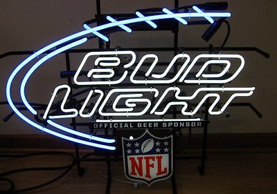 neon bud light sign nfl signs pinball game knoxville tennessee