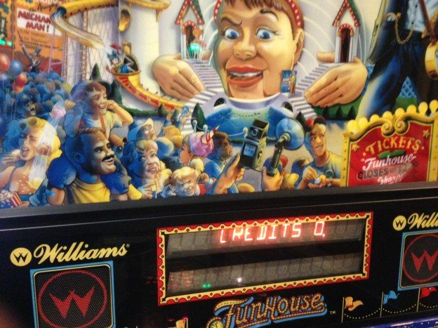 Backglass of Funhouse pinball machine.
