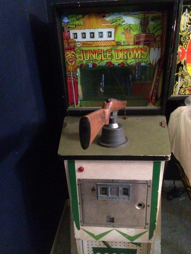 Jungle Drums gun arcade game.