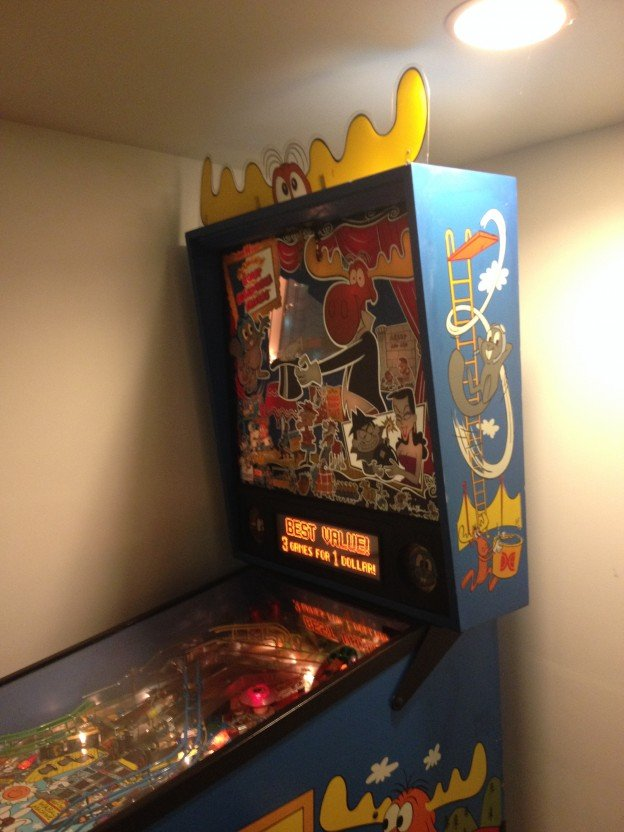 side Adventures of Rocky and Bullwinkle and Friends pinball
