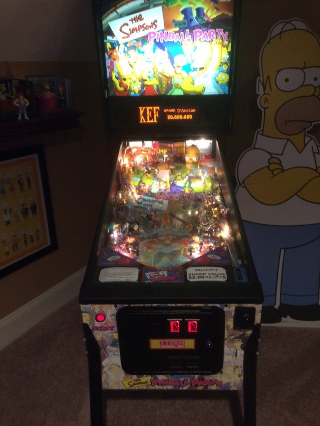the simpsons pinball party for sale