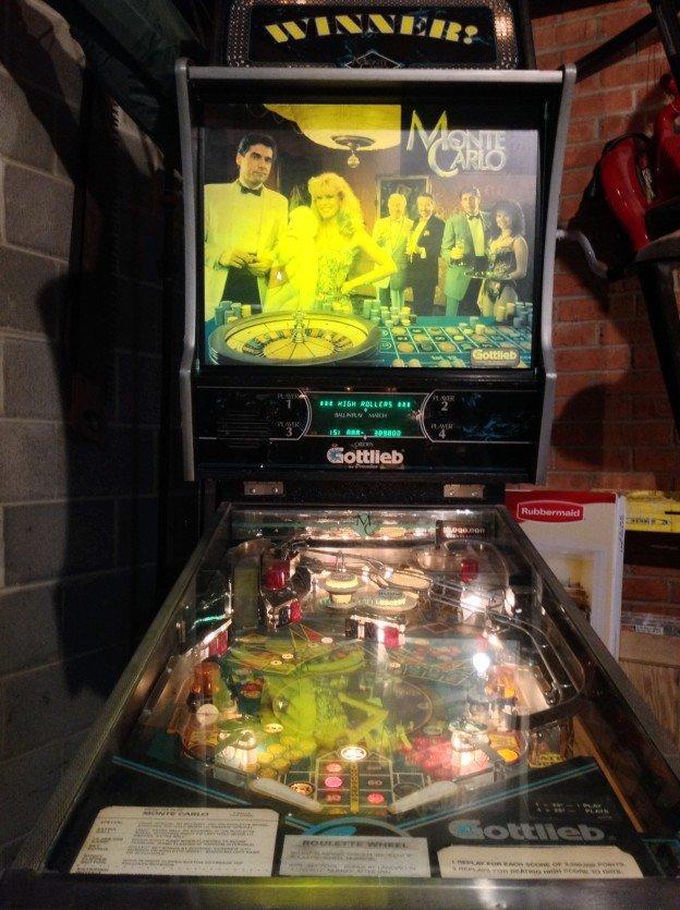 Gottlieb Monte Carlo pinball machine for sale in Cary Illinois