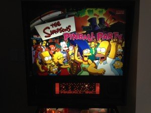 backglass HUO STERN simpsons pinball machine for sale
