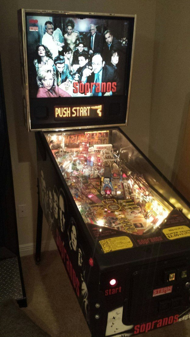 full game HUO Sopranos pinball machine for sale in Tampa