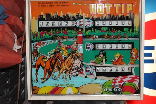 Backglass full Williams Hot Tip pinball machine for sale Livonia Michigan