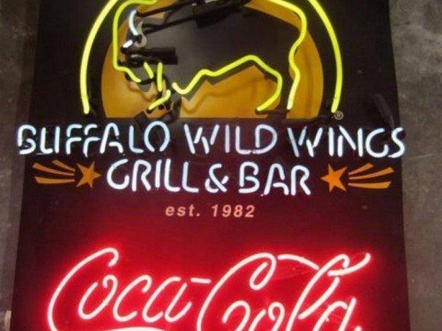Buffalo Wild Wings Grill & Bar neon sign