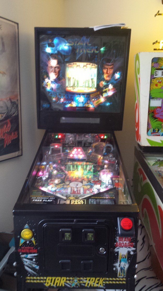 Data East Star Trek 25th Anniversary Edition pinball for sale