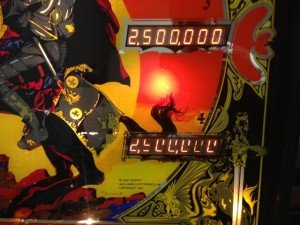 Displays on Flippers Black Knight pinball machine for sale in Arezzo Italy