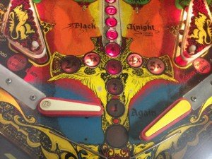 Flippers on Flippers Black Knight pinball machine for sale in Arezzo Italy