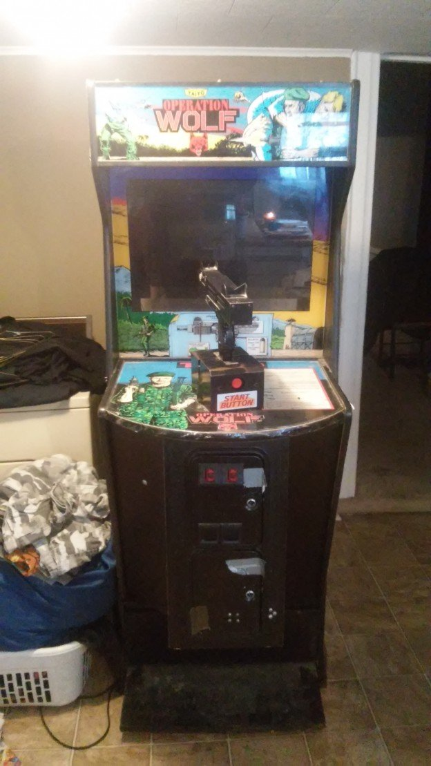 Front of Operation Wolf video arcade game for sale