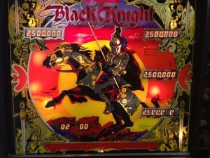 Full backglass Flippers Black Knight pinball machine for sale in Arezzo Italy