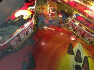 Left playfield of Flippers Black Knight pinball machine for sale in Arezzo Italy