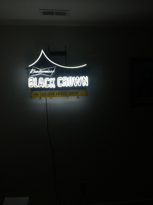 budweiser black crown neon sign for sale in high point nc. Black Bedroom Furniture Sets. Home Design Ideas