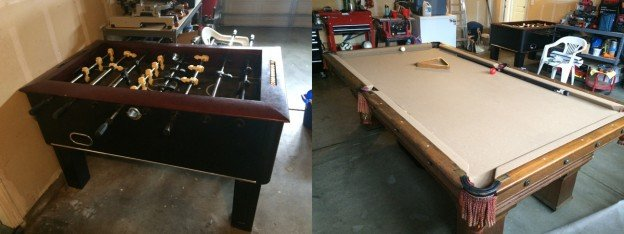 Foosball and Pool table for sale in Modesto California