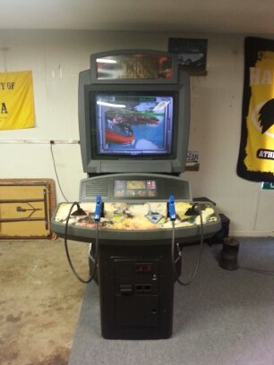 Front of Maximum force video arcade game for sale