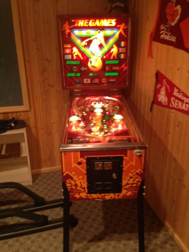 Full view of Gottlieb The Games pinball machine