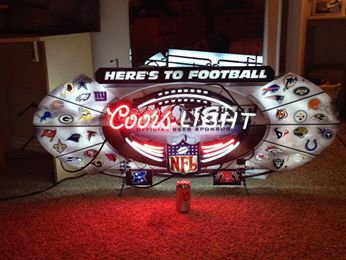 Here's to football coors light neon