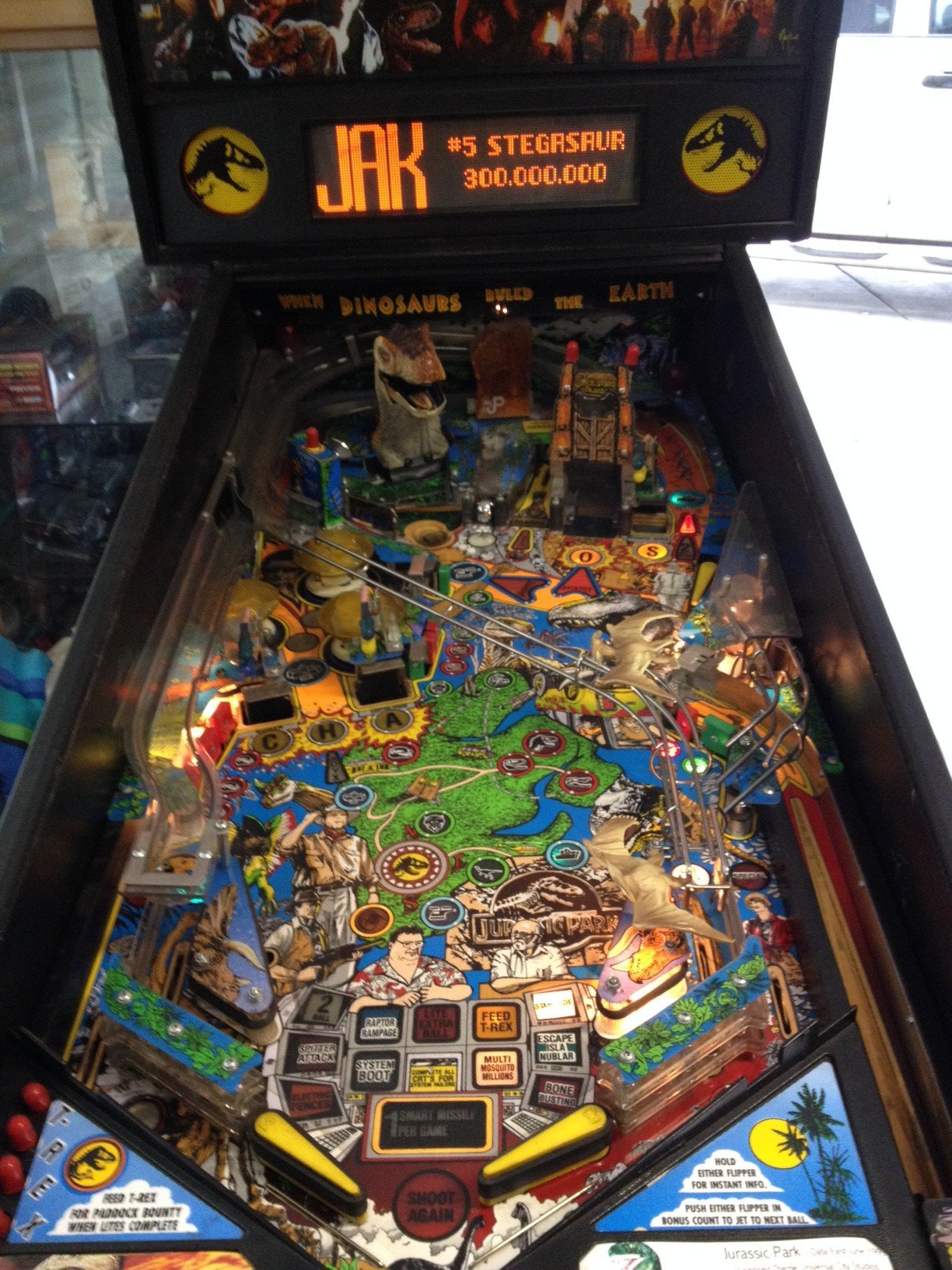 1993 Jurassic Park pinball machine for sale in Madera, CA