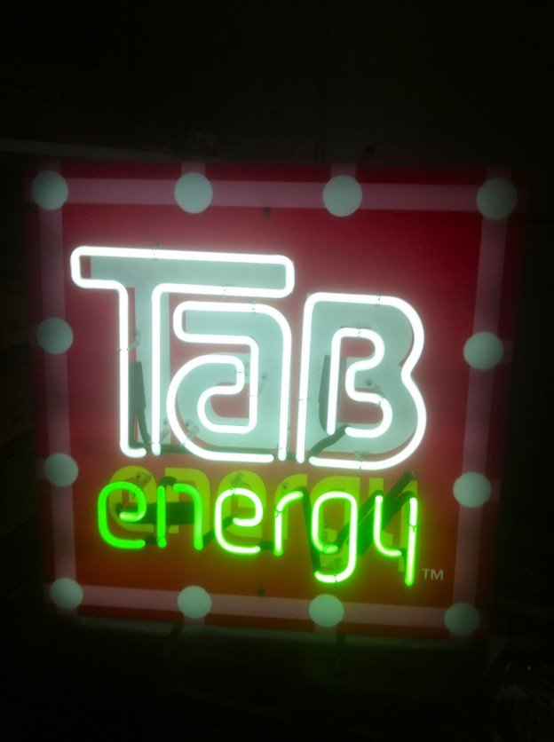 Tab Energy Drink neon sign