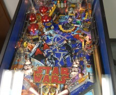 playfield of DataEast Star Wars pinball machine for sale in Iowa