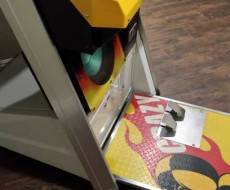 Bottom of Crazy Taxi upright video arcade game for sale