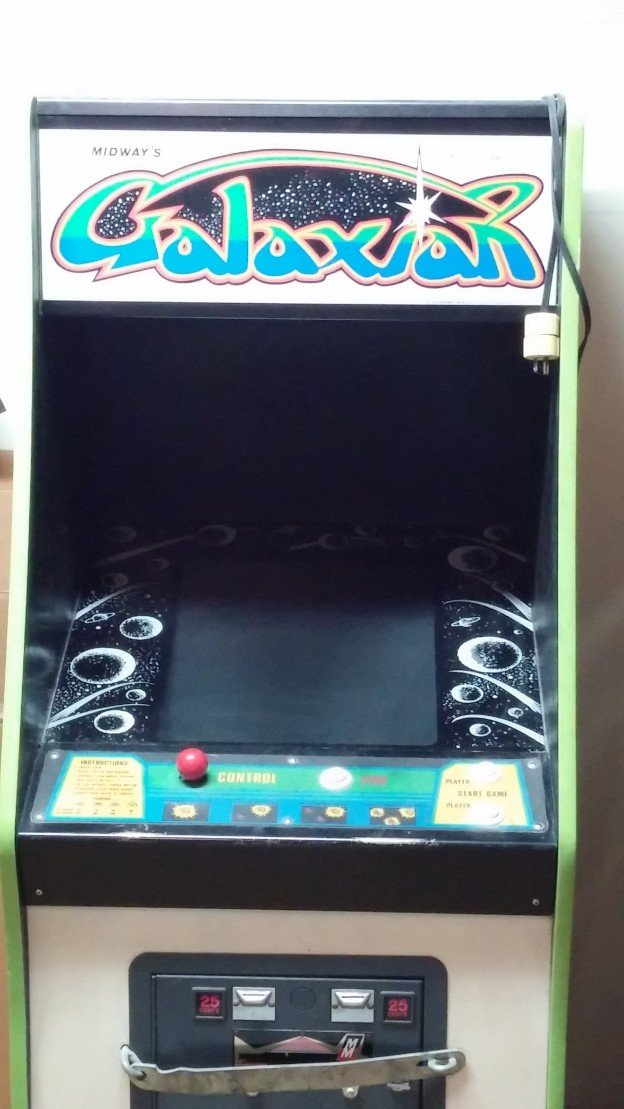 Front of Galaxian video arcade game